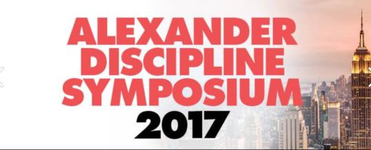Simposio Internazionale Alexander Discipline – New York –  30 marzo e 01 aprile 2017