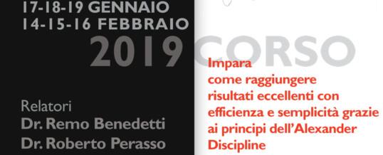 CORSO COMPLETO ALEXANDER DISCIPLINE  gennaio/febbraio 2019