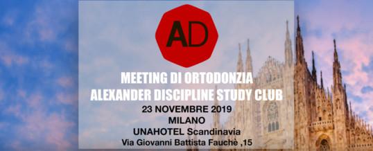 MEETING DI ORTODONZIA ALEXANDER DISCIPLINE STUDY CLUB