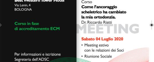 ADSC SUMMER MEETING 2020 E CORSO DEL DR RICCARDO RIATTI